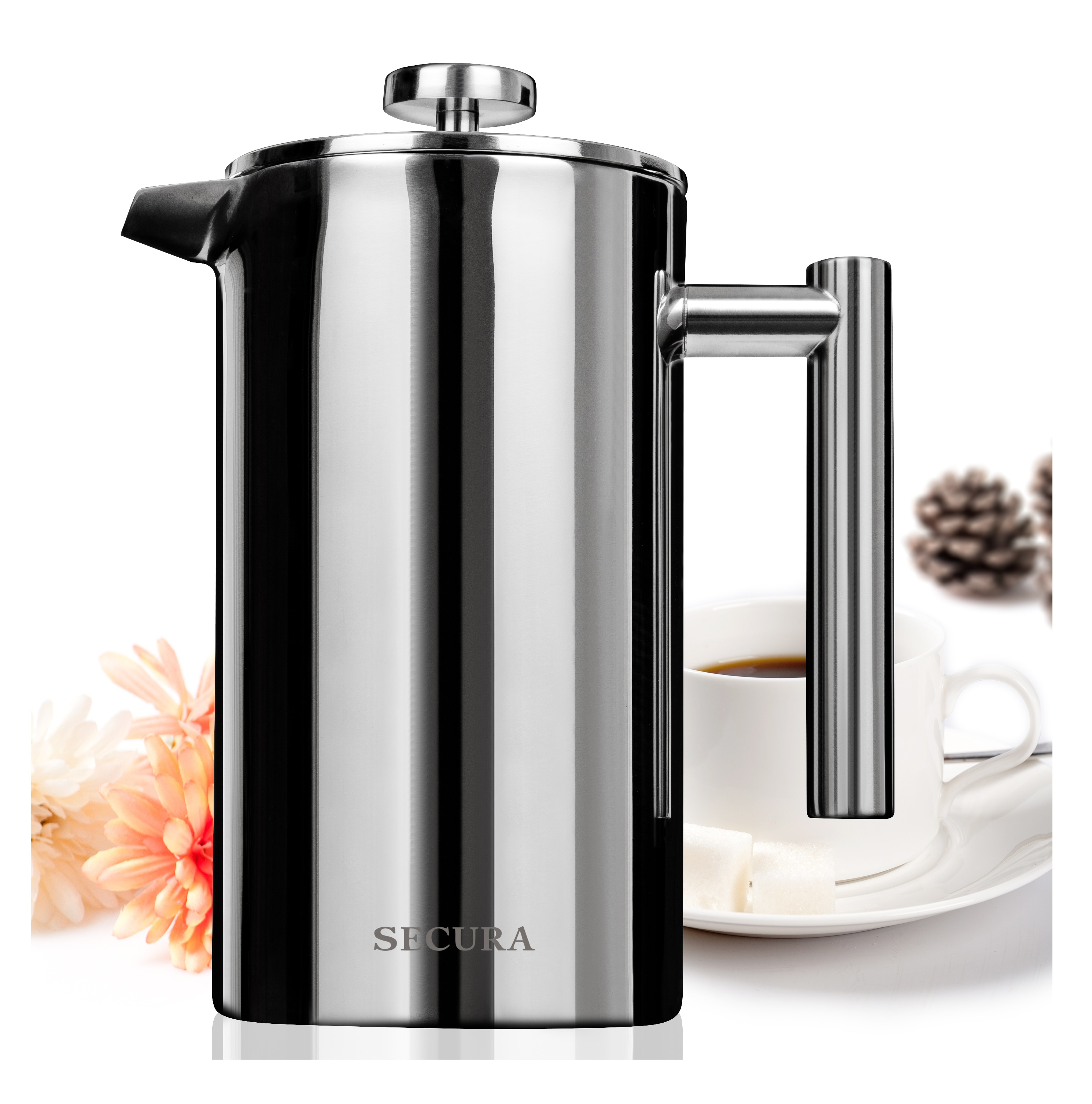 Bed bath beyond french press - Secura 1 Liter Stainless Steel French Press Coffee Maker Sfp 34ds